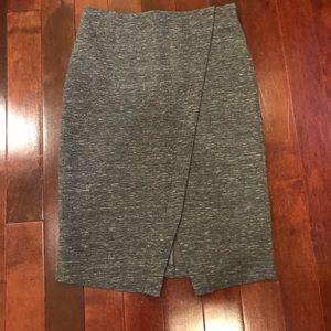 LOFT Space Dye Tulip High Waisted Stretchy Skirt